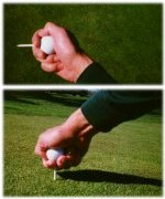 Teeing the golf ball